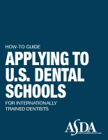 Tips for International Dental Students | ASDA